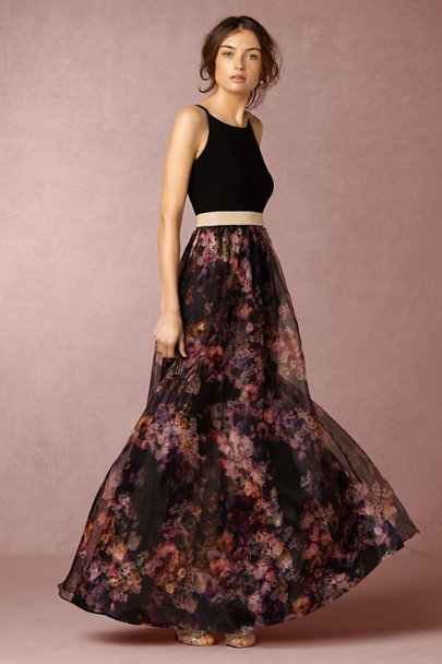 Aidan Mattox Purple Multi Lore Dress | BHLDN
