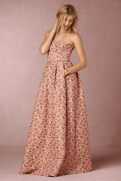 Tracy Reese Rose Motif Margaret Dress | BHLDN