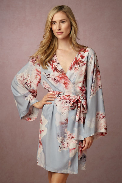 Plum Pretty Sugar Oceane Botanic Garden Robe | BHLDN