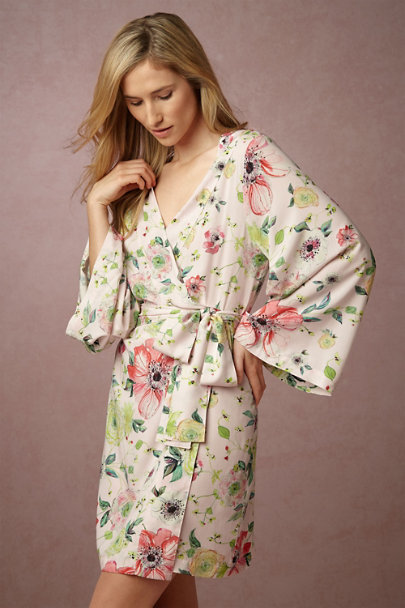 Plum Pretty Sugar Ebba Botanic Garden Robe  | BHLDN
