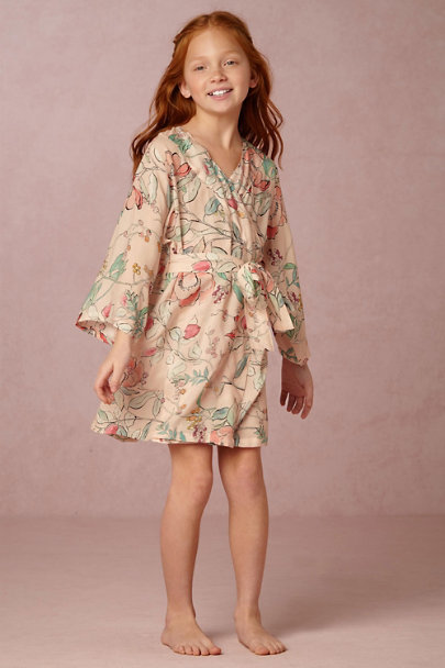 Plum Pretty Sugar Alodie Botanic Garden Flower Girl Robe  | BHLDN