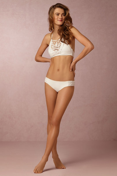 White Venise Lace Bikini Bottom | BHLDN