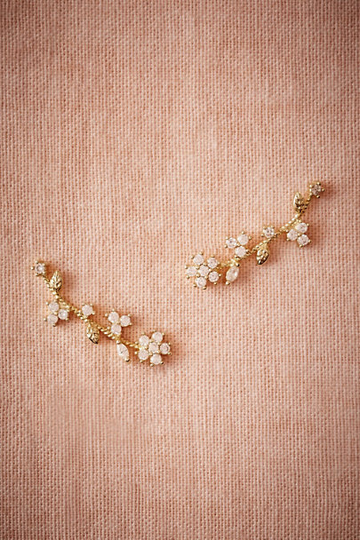 Jardin Gold Ginette Post Earrings | BHLDN
