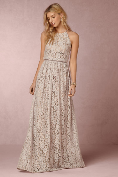 Donna Morgan Platinum/Nude Alana Dress | BHLDN