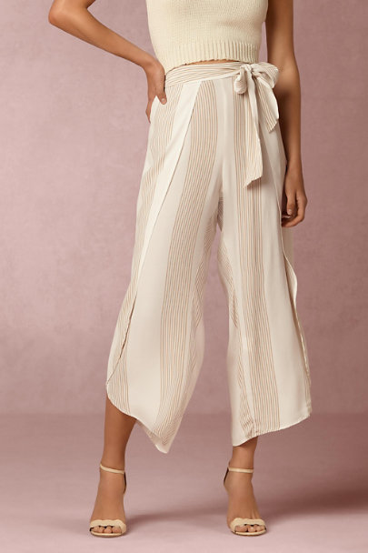Ivory Taupe Stripe Loungers | BHLDN