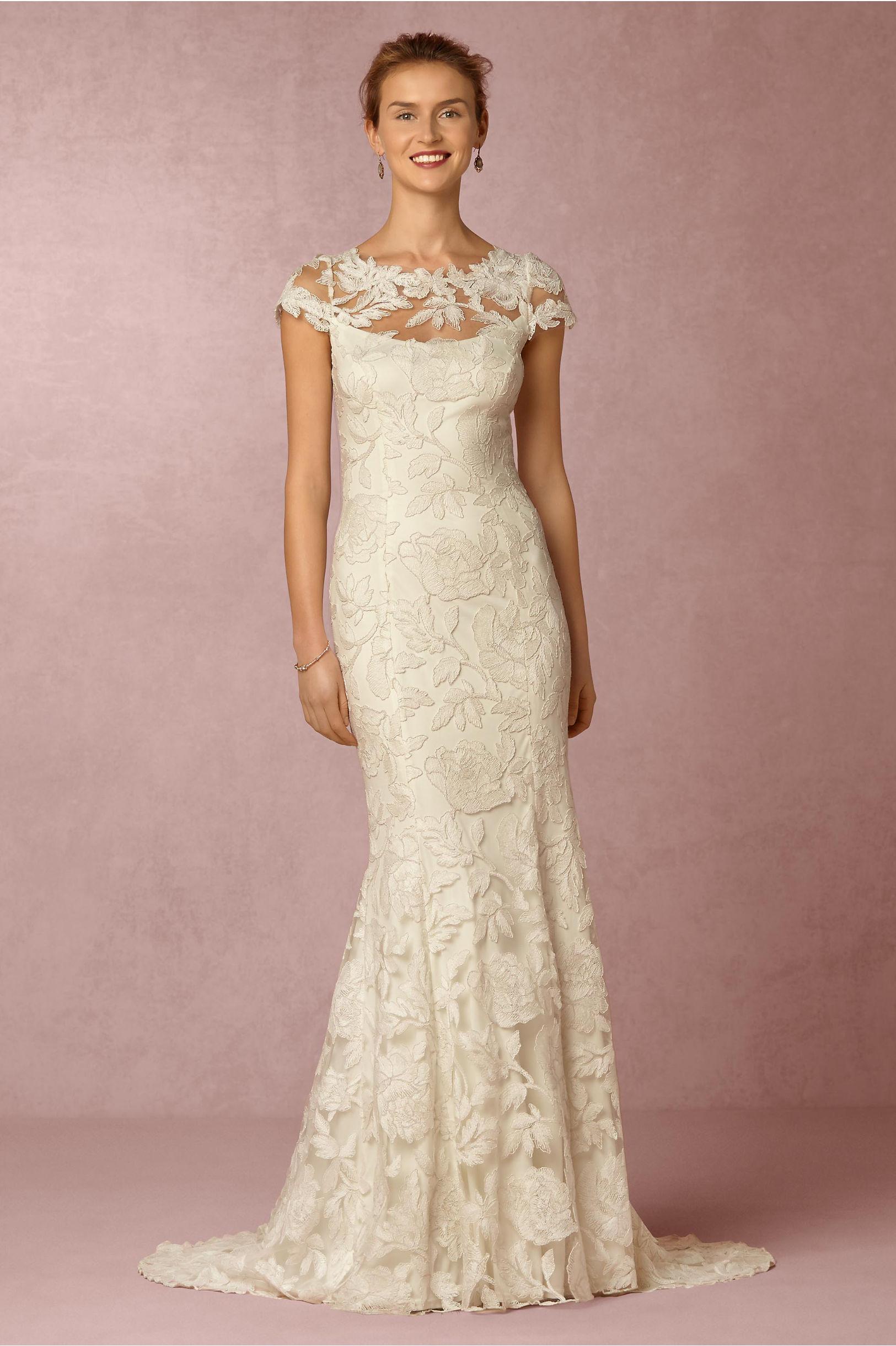 elinor gown wedding dresses for sale Tadashi Shoji Ivory Elinor Gown BHLDN