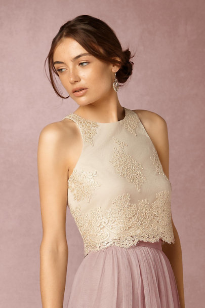 Donna Morgan Ivory Bea Top  | BHLDN