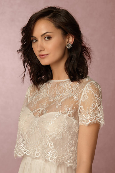 Catherine Deane Ivory Gracelyn Topper | BHLDN