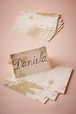 Gold Imprint Placecards (12)