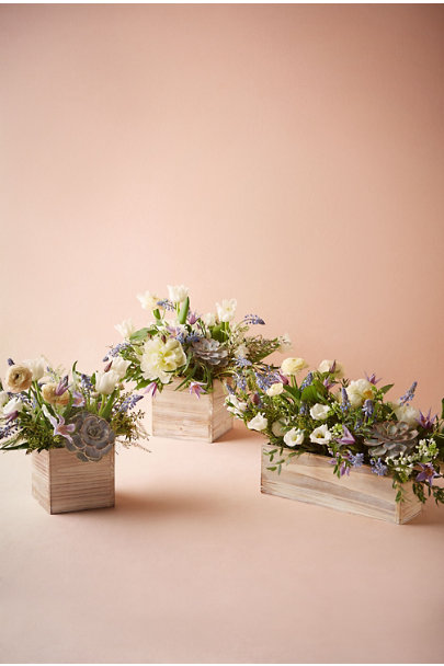 Whitewash Woodland Box Planters | BHLDN