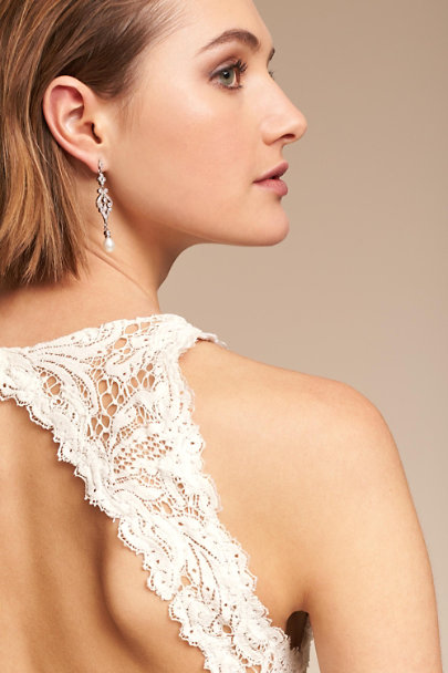 Amy O. Silver Marquise Earrings | BHLDN