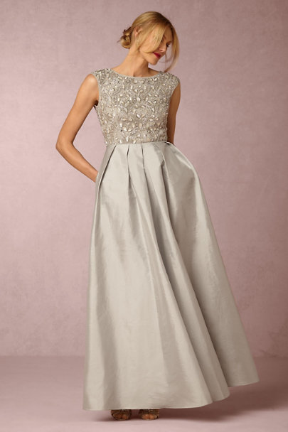 Aidan Mattox Silver Sansa Dress | BHLDN