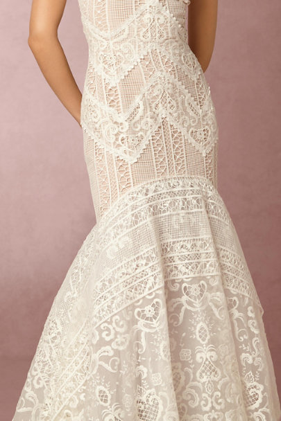 Costarellos Nude/Ivory Blanca Gown | BHLDN