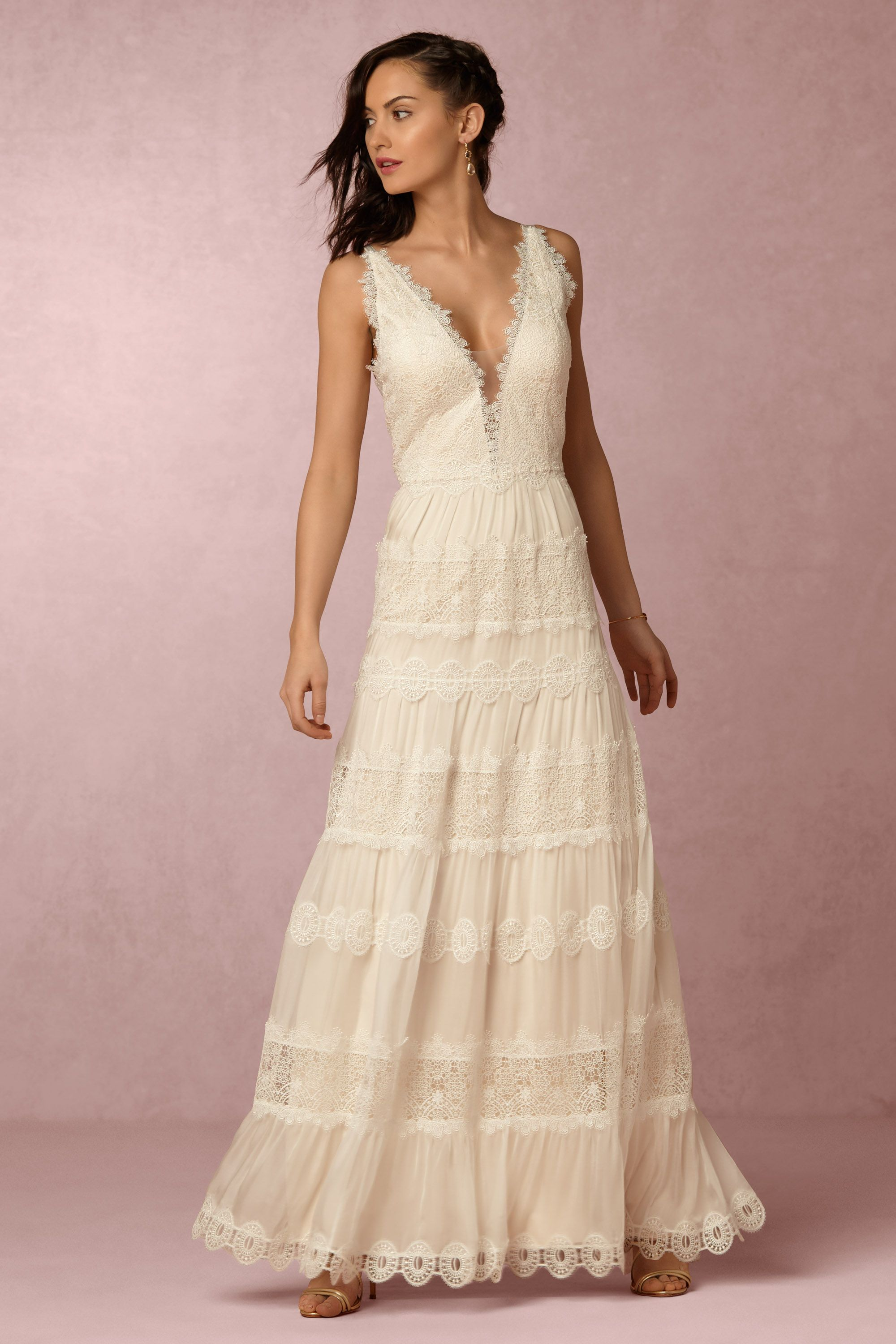 Wedding Anthropology Wedding Dresses genevieve gown in bride bhldn champagne bhldn