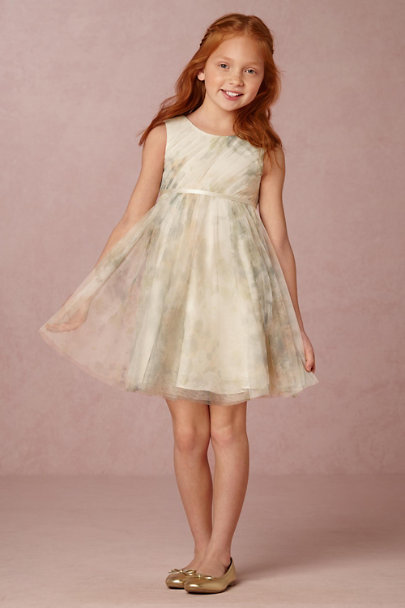 Jenny Yoo Ivory Sage Floral June Dress | BHLDN