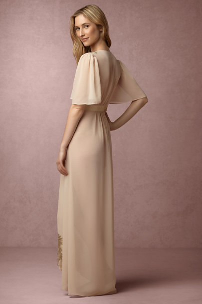 James Coviello Gold Monteverdi Robe | BHLDN