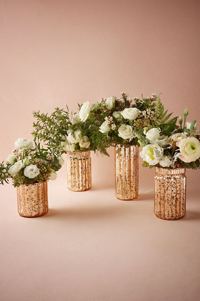 Matte Mauve Blushed Mercury Vases | BHLDN