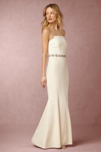 Silver Argent Lattice Fitted Belt | BHLDN