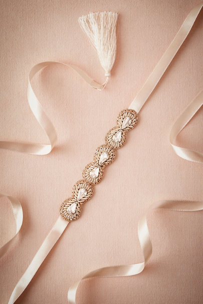 Rose Crystal Circlet Sash | BHLDN