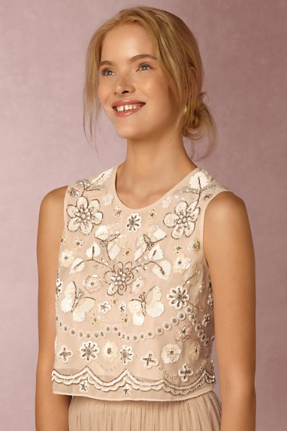 Needle & Thread Petal Pink Evelyn Top  | BHLDN