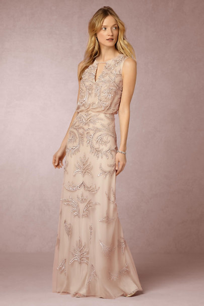 Aidan Mattox Champagne Hazel Dress | BHLDN