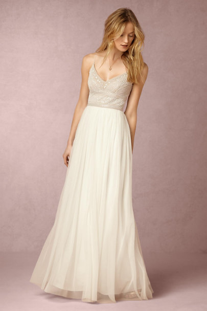 Adrianna Papell Ivory/Nude Naya Dress | BHLDN