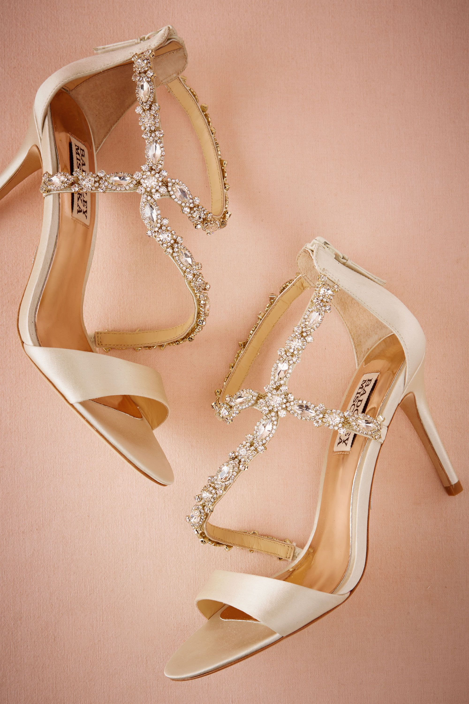 Shimmer Crossed Heels