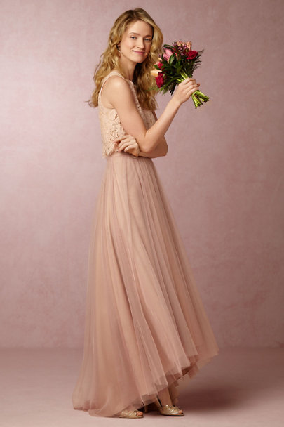 Monique Lhuillier Bridesmaids Shell Petal Skirt | BHLDN