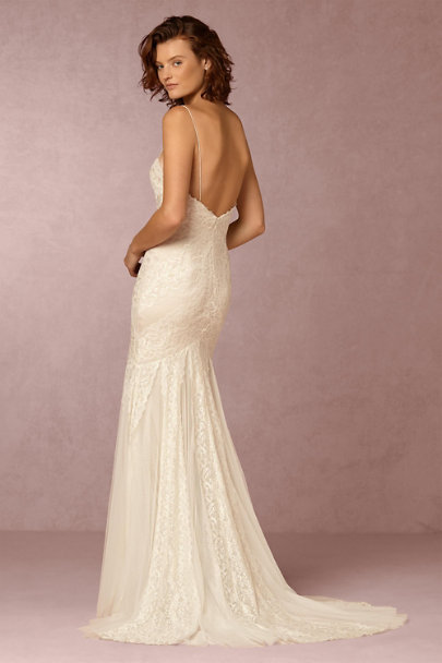 Watters Ivory/Champagne Wren Gown | BHLDN