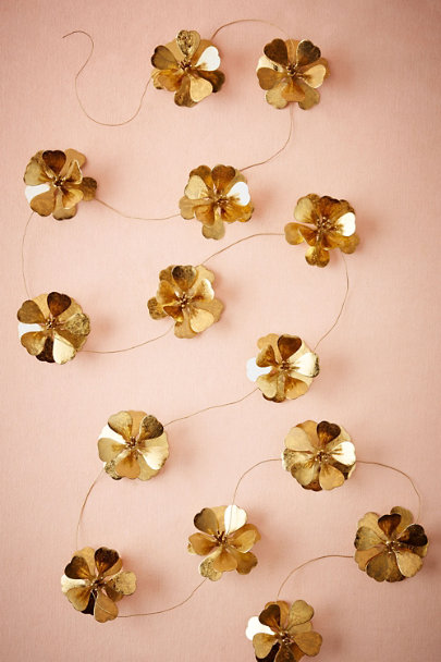 Gold Golden Blooms Garland | BHLDN