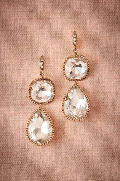 Theia Jewelry Clear Lille Drop Earrings | BHLDN