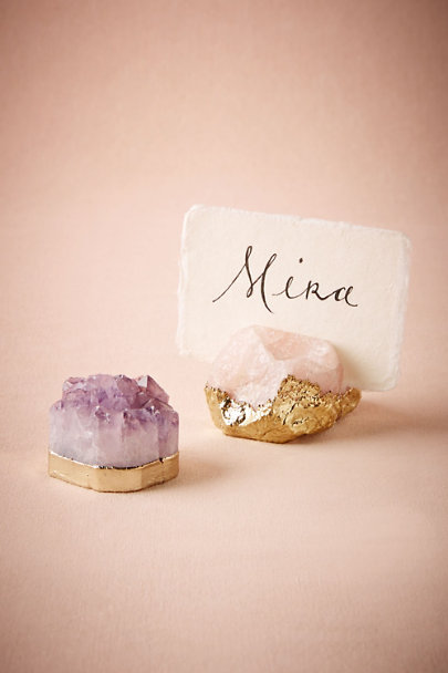 Amethyst Gilded Agate Card Holder | BHLDN