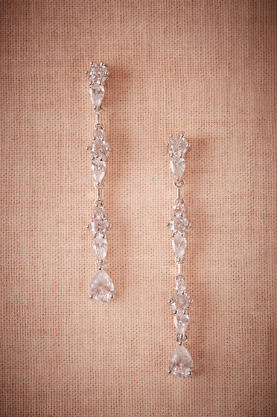 Jardin Silver Moondrop Earrings | BHLDN