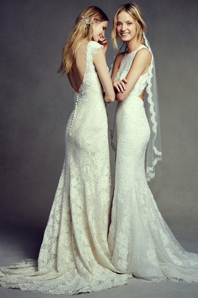 Pronovias Ivory Jensen Gown | BHLDN