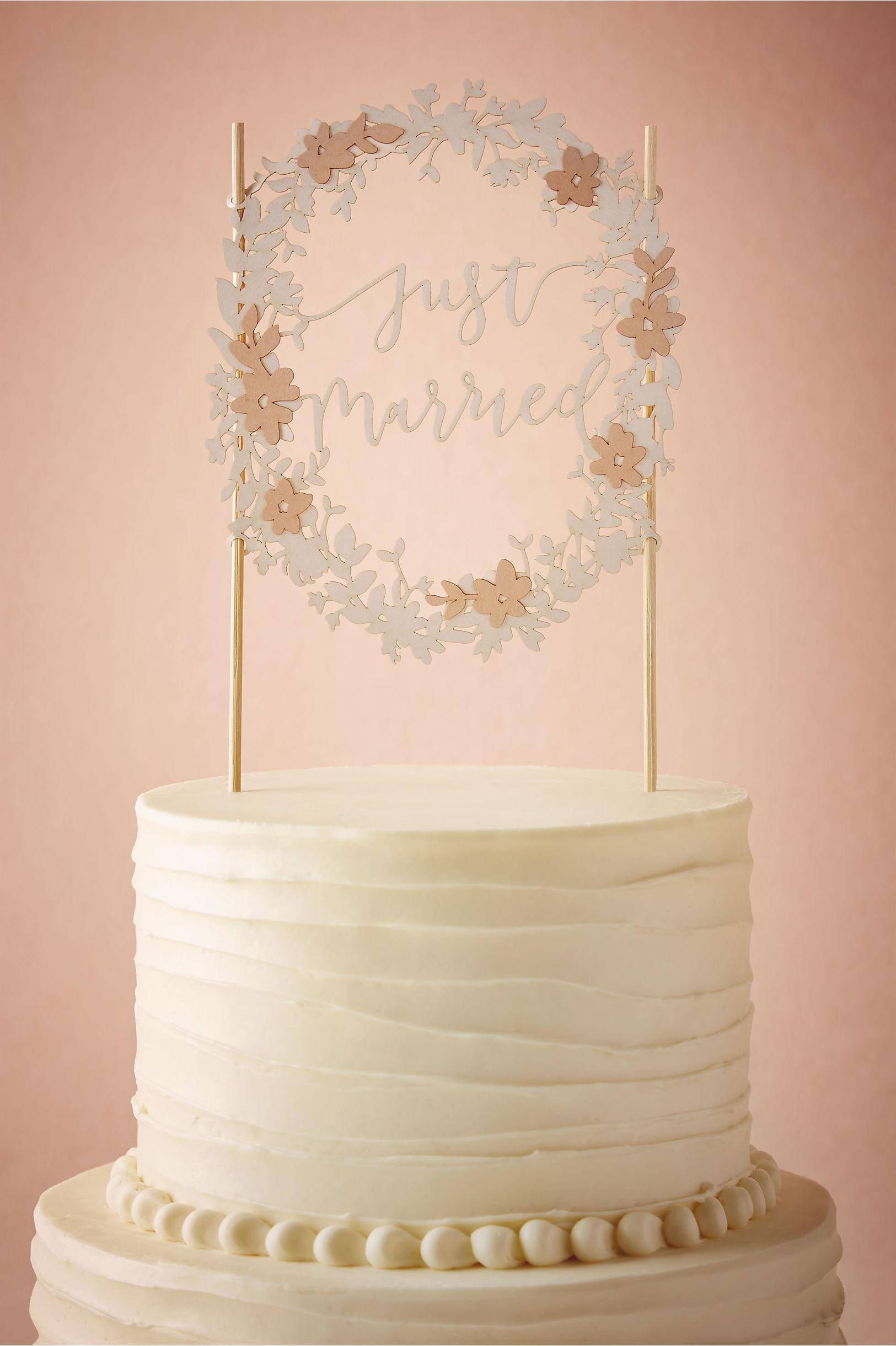 rose just married cake topper bhldn - Cake Decor