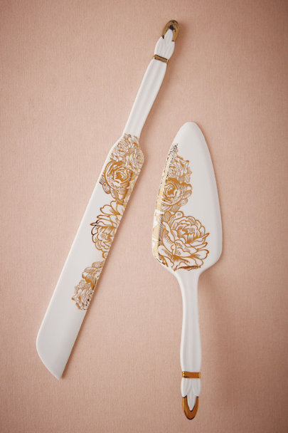 Gold Peony Serving Set | BHLDN