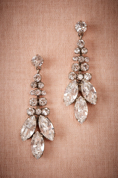 Sorrelli Silver Trevelez Crystal Drop Earrings | BHLDN