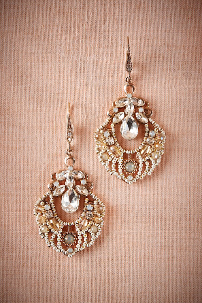 Theia Jewelry Gold Agata Chandelier Earrings | BHLDN