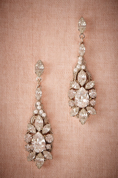 Ti Adoro Silver Ballroom Chandelier Earrings | BHLDN