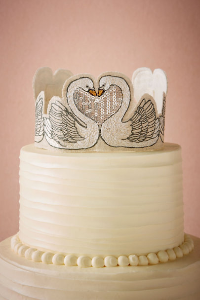 Neutral Smitten Swans Cake Topper | BHLDN