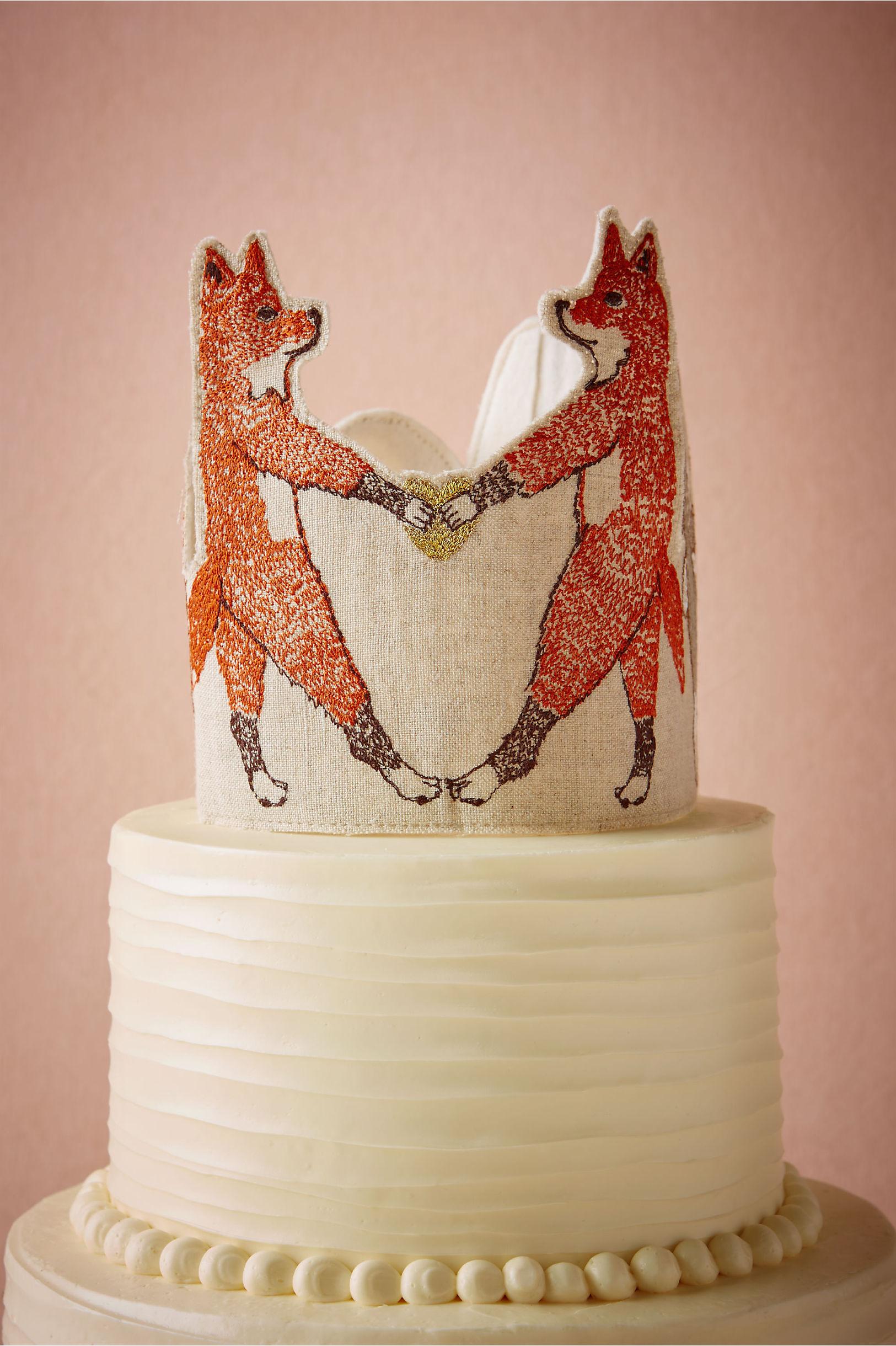 neutral foxtrot cake topper bhldn - Cake Decor