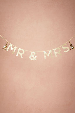 Glittered Mr & Mrs Garland