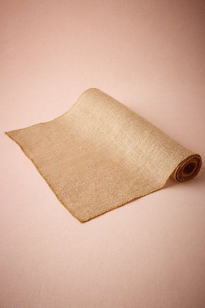 Neutral Toile de Jute Table Runner | BHLDN