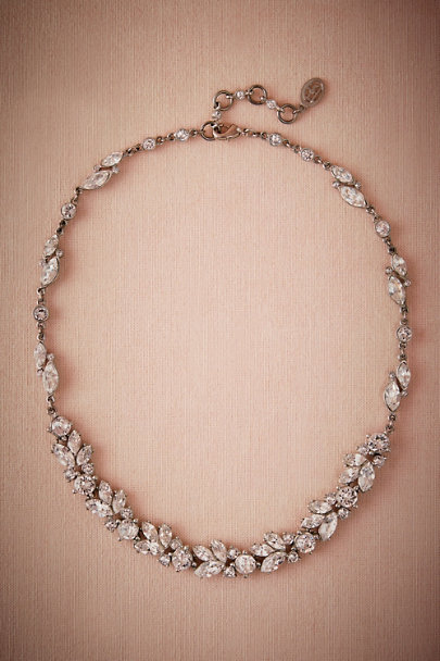 Ben-Amun Silver Nerea Crystal Necklace | BHLDN