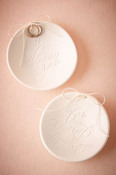 For The Rest Of My Days Scripted Vow Ring Bowl | BHLDN