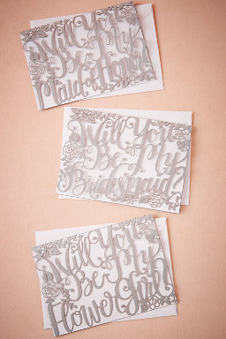 Will You Be Calligraphy Card
