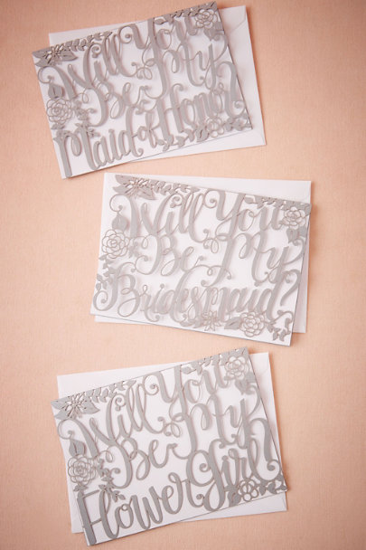 Alexis Mattox Maid of Honor Will You Be Calligraphy Card | BHLDN