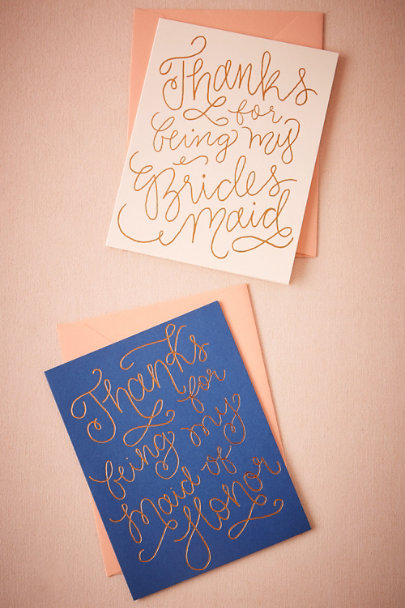 Maid of Honor Quilled Thank You Card | BHLDN