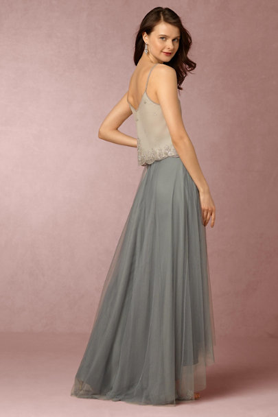 Moyna Whisper Grey Carrie Top | BHLDN