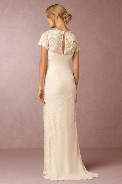 Lotus Threads Ivory Jade Gown  | BHLDN
